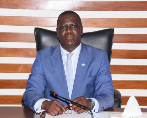 Salone New Foreign Minister Interacts with the Media