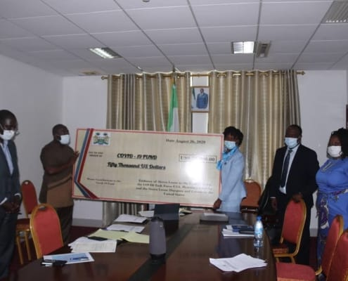 Presentation of COVID-19 Materials and Financial Support to the Government of Sierra Leone