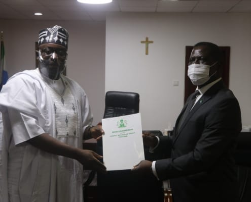 High Commissioner-Designate of Nigeria Presents Copies of His Letter of Credence To Foreign Minister Professor Francis